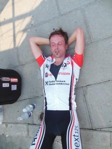 Dietmar Hintringer nach dem EZF, total erschöpft