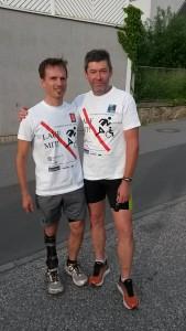 Dietmar Hintringer (SV Gallneukrichen) und Franz Lanzerstorfer (SU Feldkirchen/Donau)