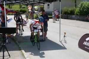 Dietmar Hintringer Start Bergzeitfahren auf den Hansberg